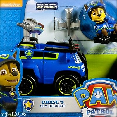 Nickelodeon PAW PATROL CHASE SPY CRUISER Vehicle German Shepherd Police Pup Dron