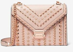 f318a4e54417 Image is loading HOT-SALE-Michael-Kors-Whitney-Large-Studded-Leather-
