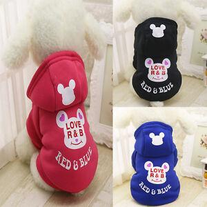 Pet-Dog-Puppy-039-s-Winter-Warm-Hoodies-Coat-Jacket-Clothes-Costume-Apparel-Cat-New
