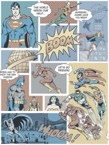 DC Comics Batman Justice League 10m Wallpaper Kids Bedroom DC9002-2