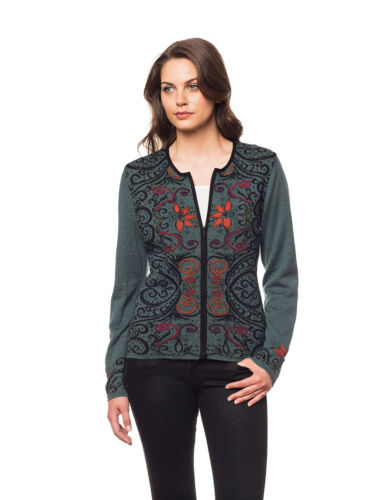 100/% Baby Alpaca Handmade Reversible Arabesque Cardigan Sweater 3 Colors