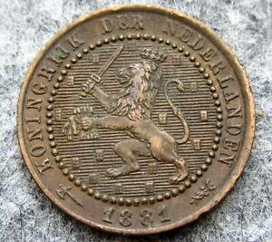 NETHERLANDS-WILLEM-III-1881-CENT-HIGH-GRADE