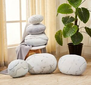 Image Is Loading NEW MOONSTONE LIVING STONES SHAPE PILLOWCASE CUSHION COVER