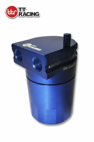 TT Racing Baffled 15mm 19mm Aluminum Oil Catch Can Reservoir Tank 0.5L Purple