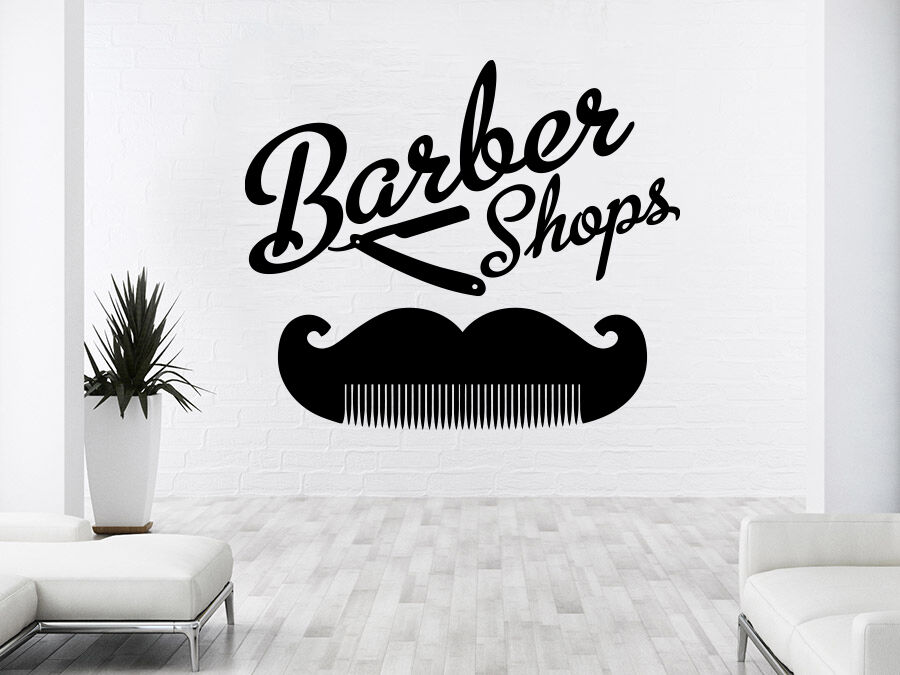 Barber Shop Wall Decal Hairdressing Salon Vinyl Sticker Beauty Hair Salon NS1035