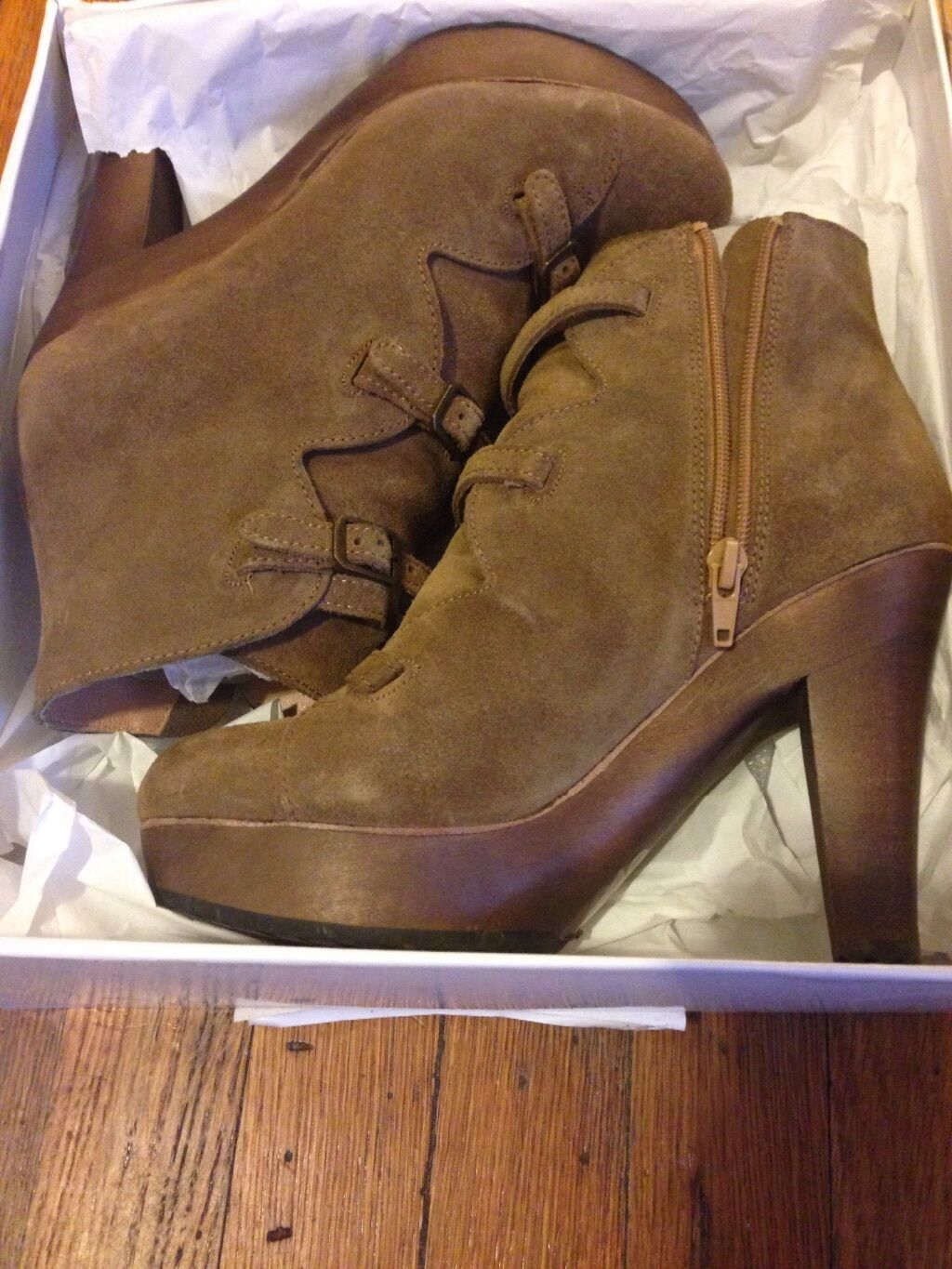 See by Chloe Cappuccino Suede Boots 38