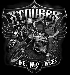 3 Stooges Biker T Shirt Stooges Bike Week Motorcycle Mens Small to 6XL and Tall