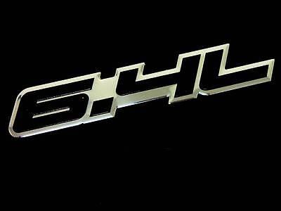 QTY  2 FENDER HOOD TRUNK CAR 2.2L ENGINE ALUMINUM EMBLEMS BADGE SET PAIR BLACK