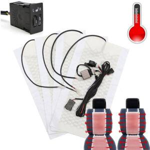 2-Seats-Carbon-Fiber-Car-heating-pads-Kit-Butt-Back-Heater-Dual-5-gear-Switch