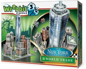 Wrebbit-New-York-Collection-World-Trade-Puzzle-3D-875-Pieces-damaged-box
