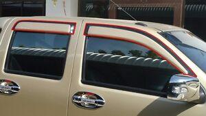 DOORS WINDOW VENT VISOR FOR ISUZU D-MAX 2007-2011