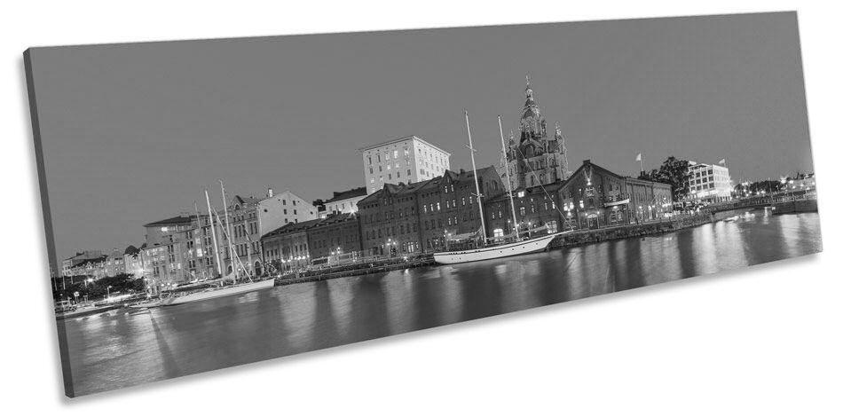 Finlandia Helsinki CITY SKYLINE B N art. a muro PANORAMA stampa incorniciata