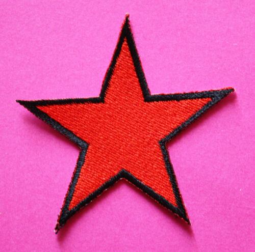 Roter Stern Aufnäher patch Rockabilly Punk Antifa red star Punkrock Aufbügler