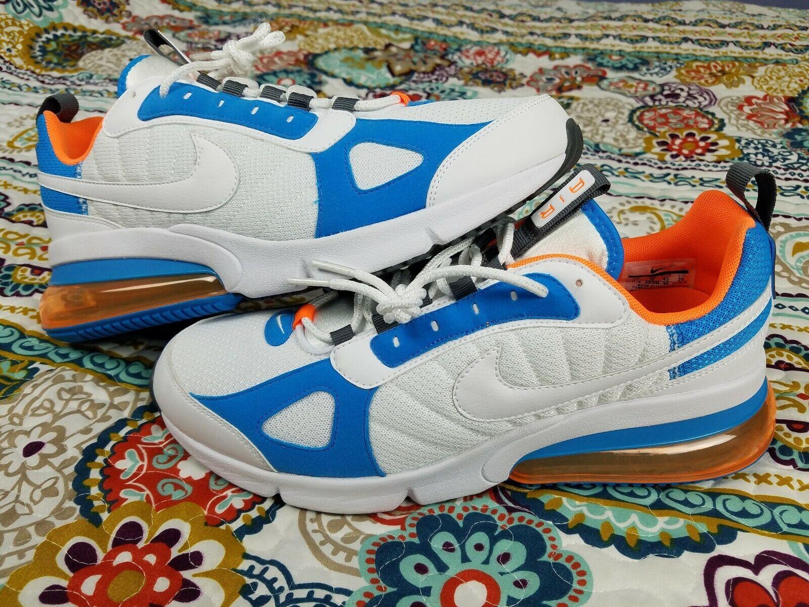 Nike Air Max 270 Futura Mens sz 11 Running shoes White & orange  AO1569-100 NEW