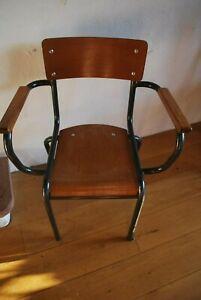 Ancienne chaise fauteuil de maitre d 39 cole des ann es 50 - Chaise bistrot ancienne baumann ...