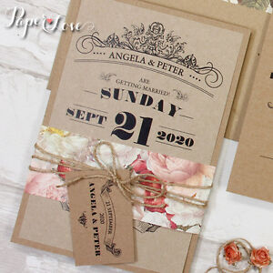 Kraft Paper Wedding Invites Uk Kraft Paper Wedding Invitation Rustic  Invitation Printable. Kraft Paper Wedding ...