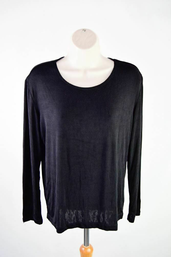 ISSEY MIYAKE Noir Haut à hommeches longues, taille S