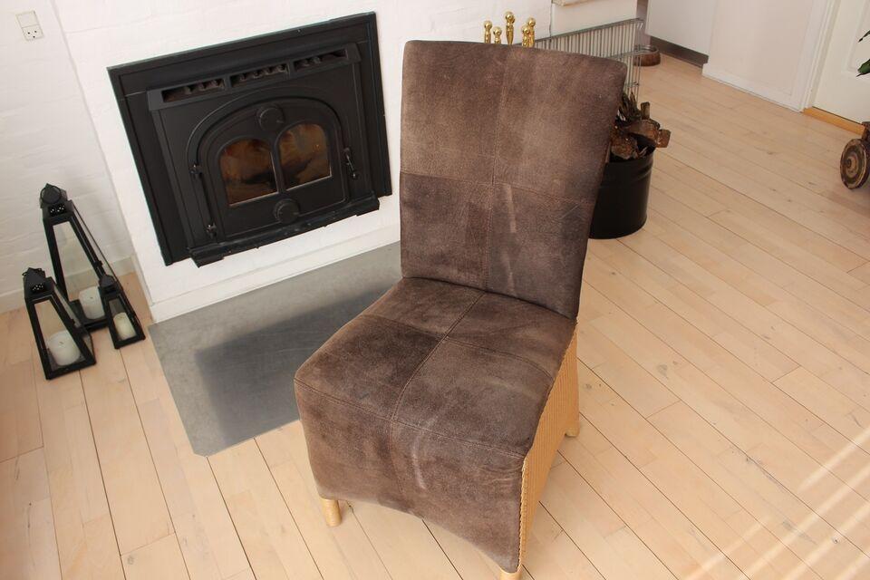 Spisebordsstol, ruskind, Lloyd Loom