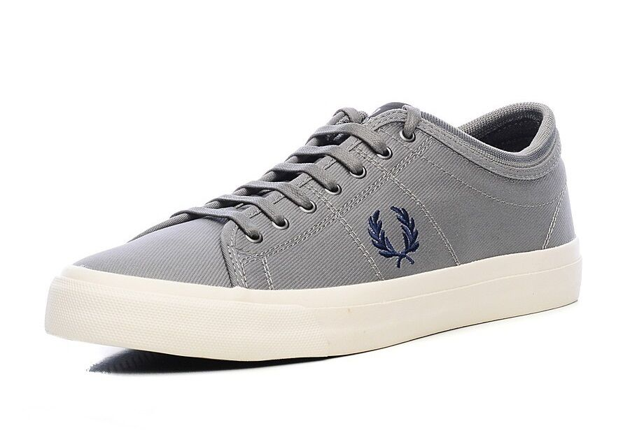 Fred Perry Men's Kendrick Tipped Cuff Trainers Shoes B7437-614 -- Grey