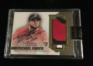 2019 TOPPS DYNASTY MICHAEL CHAVIS DYNASTY 3 COLOR PATCH AUTO RC #'d 04/10!