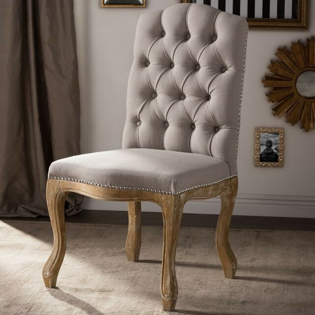 Awe Inspiring Baxton Studio Hudson Shabby Chic Rustic French Cottage Upholstered Dining Chair Download Free Architecture Designs Scobabritishbridgeorg