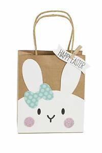 Heitmann-Deco-6-Geschenktaschen-Happy-Easter-Osterhase-Geschenktueten-Ostern
