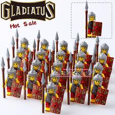 21PCS/Lot Rome Fighters Gladiatus Minifigures Medieval Knights Building blocks