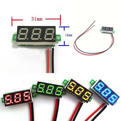Useful DC 0-30V Green LED 2 Wire Digital Display Voltage Voltmeter Panel Motors