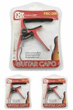 lot 3 assorted Fatboy Guitar Capo Black Red /& Silver FAT BOY BRAND QUALITY  SALE