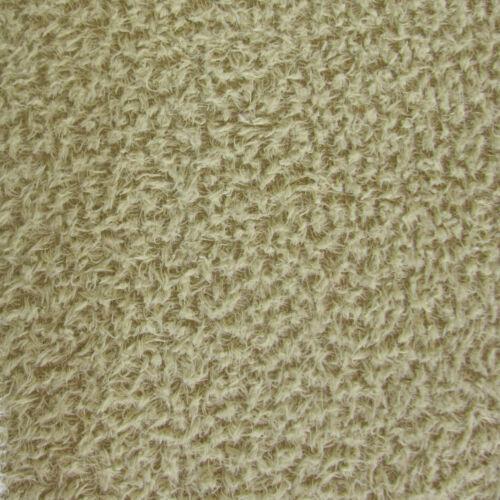 1//6 yd VIS1//SCM Sage INTERCAL 6mm Med Dense Curly Matted German Viscose Fabric