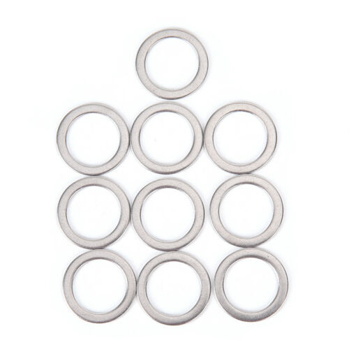 10Pcs Bicycle Pedal Spacer Crank Cycling Bike Stainless Steel Ring Washers NI/_sh