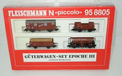Lo Fleischmann Spur N 958805 Güterwagenset Epoche III 4 teilig