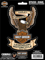 Harley Davidson Legendary Up-wing Eagle Bar & Shield Decal Made In The Usa