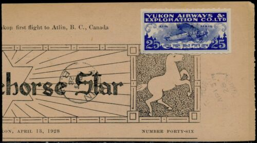 CANADA #CL42 USED ON WHITEHORSE STAR NEWSPAPER APRIL 13,1928 BQ6697