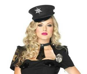 Image is loading Mini-Cop-Hat-Sexy-Cop-Costume-Hat-Sexy-  sc 1 st  eBay & Mini Cop Hat Sexy Cop Costume Hat Sexy Police Costume Role Play ...