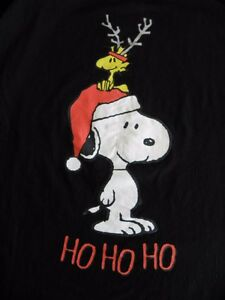 image is loading peanuts snoopy woodstock christmas t shirt holidays large - Snoopy And Woodstock Christmas