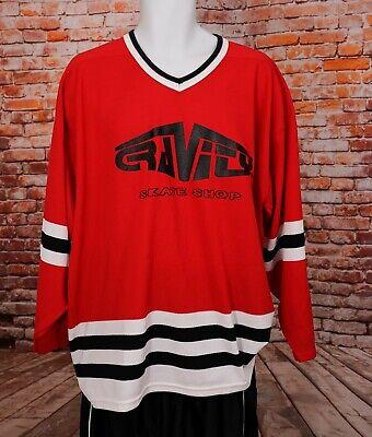 VTG CCM Gravity Skate Shop Hockey Sports Jersey XL #4 Red   eBay