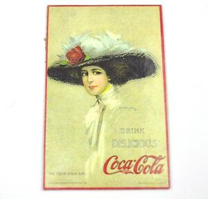 Coca-Cola-USA-Magnet-Kuehlschrankmagnet-Fridge-Magnet-Coke-Lady-mit-Hut