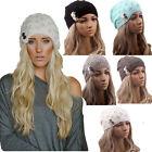 Unisex Mens Womens Knit Baggy Beanie Hats Winter Warm Oversized Ski Cap Hat Hot