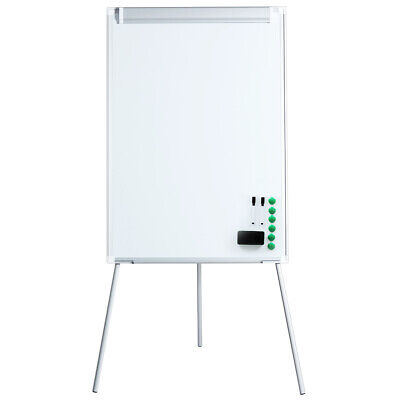 Magnetic Mobile Dry Erase Board 40x28 Inches Whiteboard Height Adjustable Flip Chart Easel with Marker Tray Large