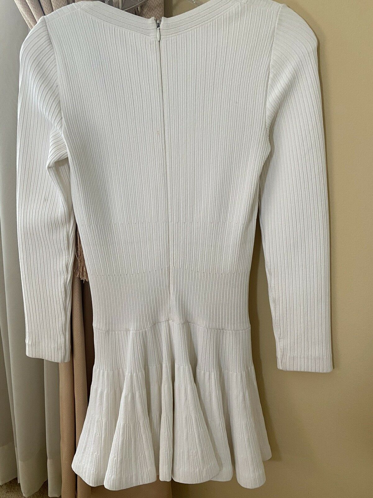Azzedine Alaia White Long Sleeve Top Blouse Dress… - image 4