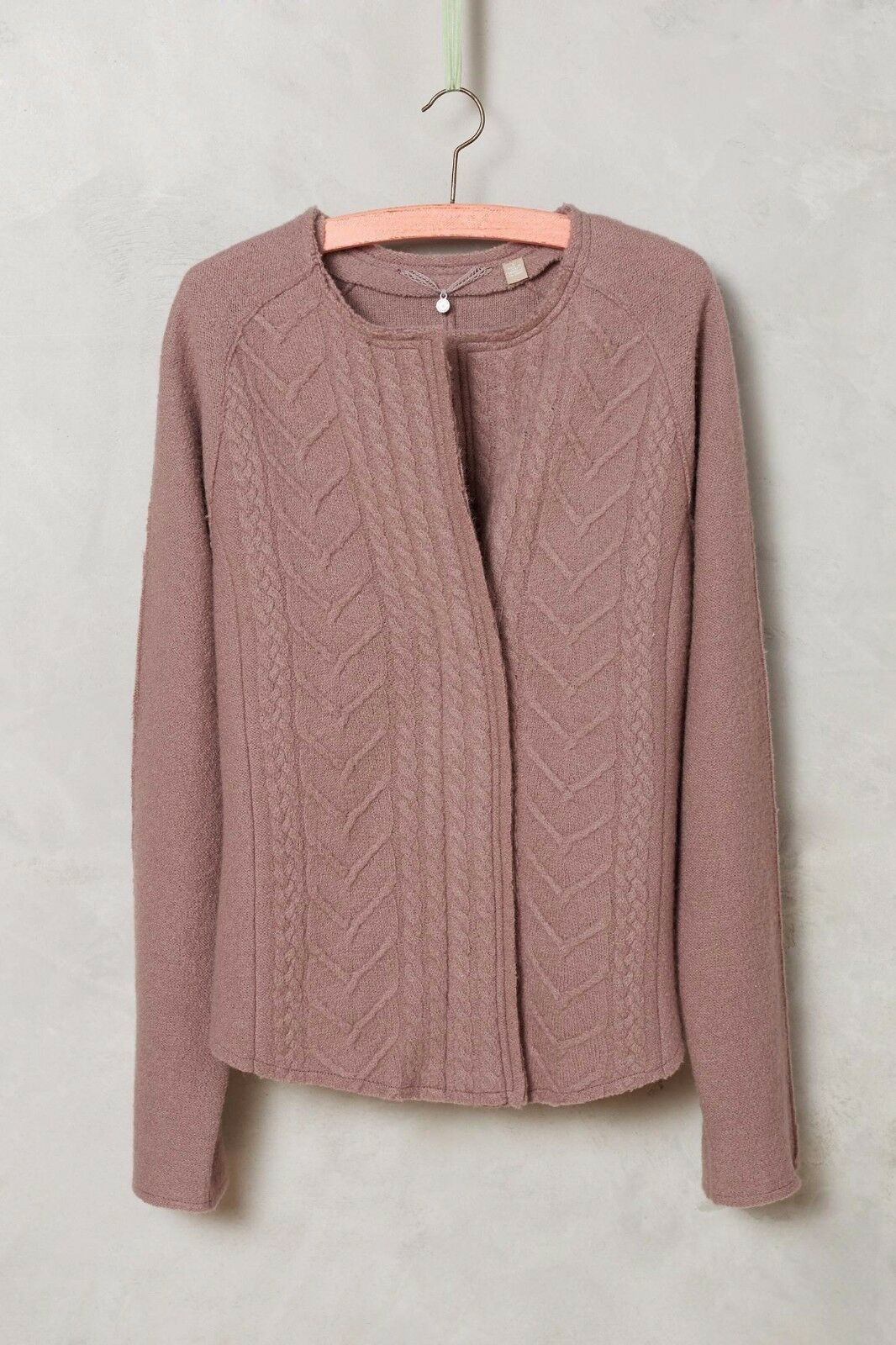 NWT ANTHROPOLOGIE CABLEKNIT BOILED WOOL BLAZER SWEATER by KNITTED & KNOTTED XS