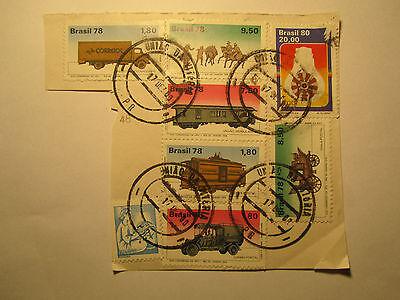 Brasilien Angemessen Briefmarken Briefstück Stamp Brasilia Brasil 78 Xviii Da Upu Rio De Janeiro 1979