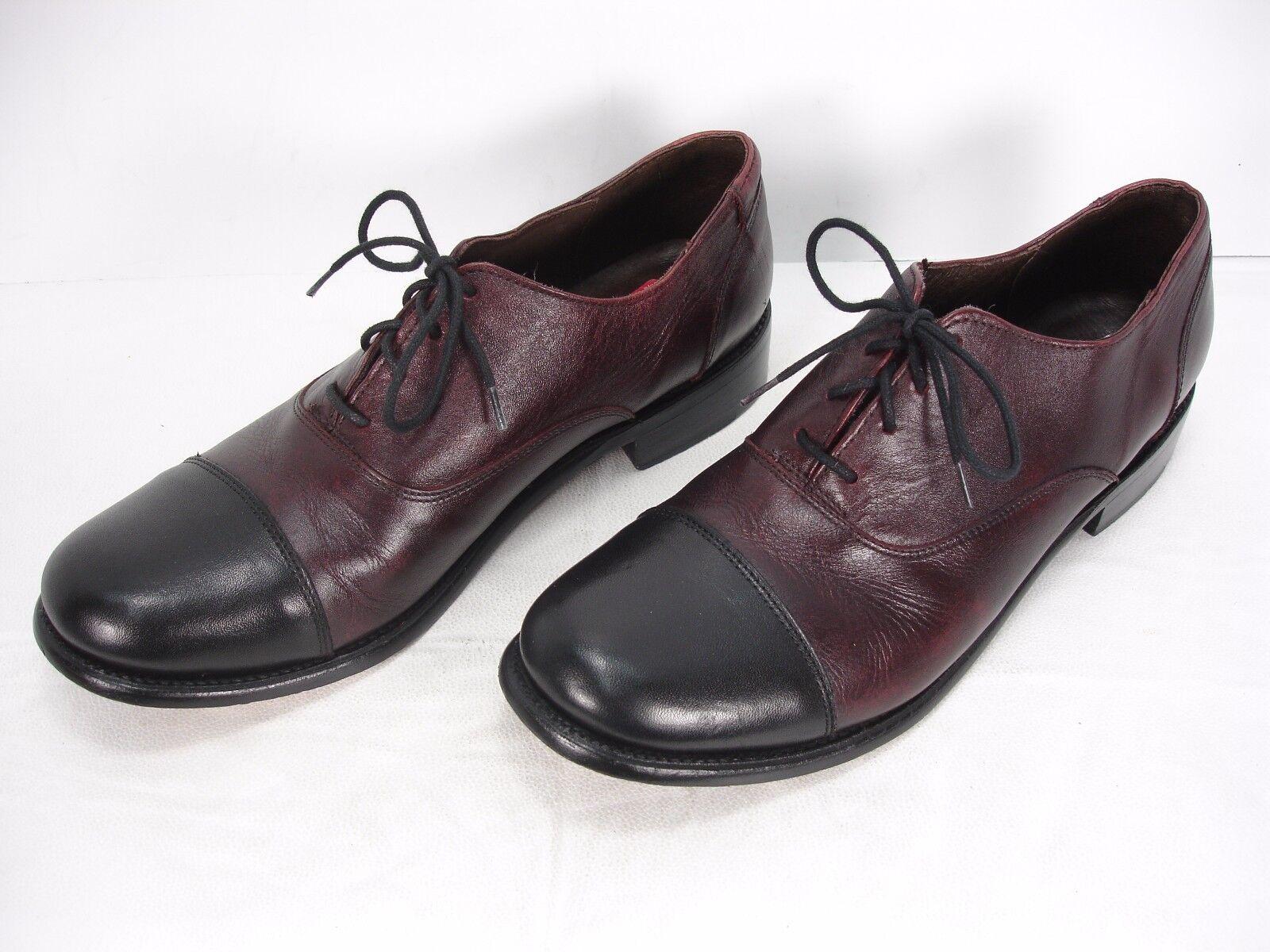 fino al 42% di sconto J.D. FISK 2 TONE LEATHER LEATHER LEATHER LACE UP CAP TOE OXFORD DRESS scarpe uomo 9.5  basso prezzo del 40%
