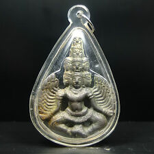 Old Rare Antique Phra Narai Kru Phra Ayuttaya Thai Buddha amulet