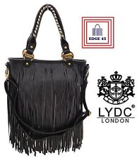 LYDC Designer Tassel Official Fringe Faux Leather Tassel Bag With Matching Strap