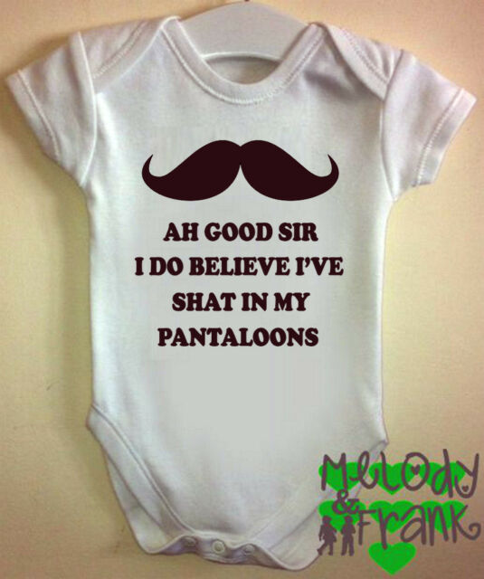 AH GOOD SIR I SEEMED TO Baby body Grow Vest clothes romper funny cute gift idea
