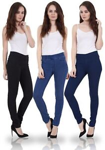 Ladies Skinny Fit Pull On Woman Stretch Elasticated Jeggings