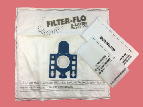 S5261 S5311 S5300 S5310 S5321 5 x MIELE Vacuum Cleaner Bags GN Type S5299