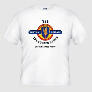 1st Aviation Brigade The Golden Hawks Vietnam Shirt Design On
